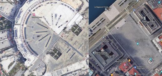 piazza Libertà Salerno e piazza Grande a Trieste