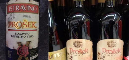 Prosek vino Croazia