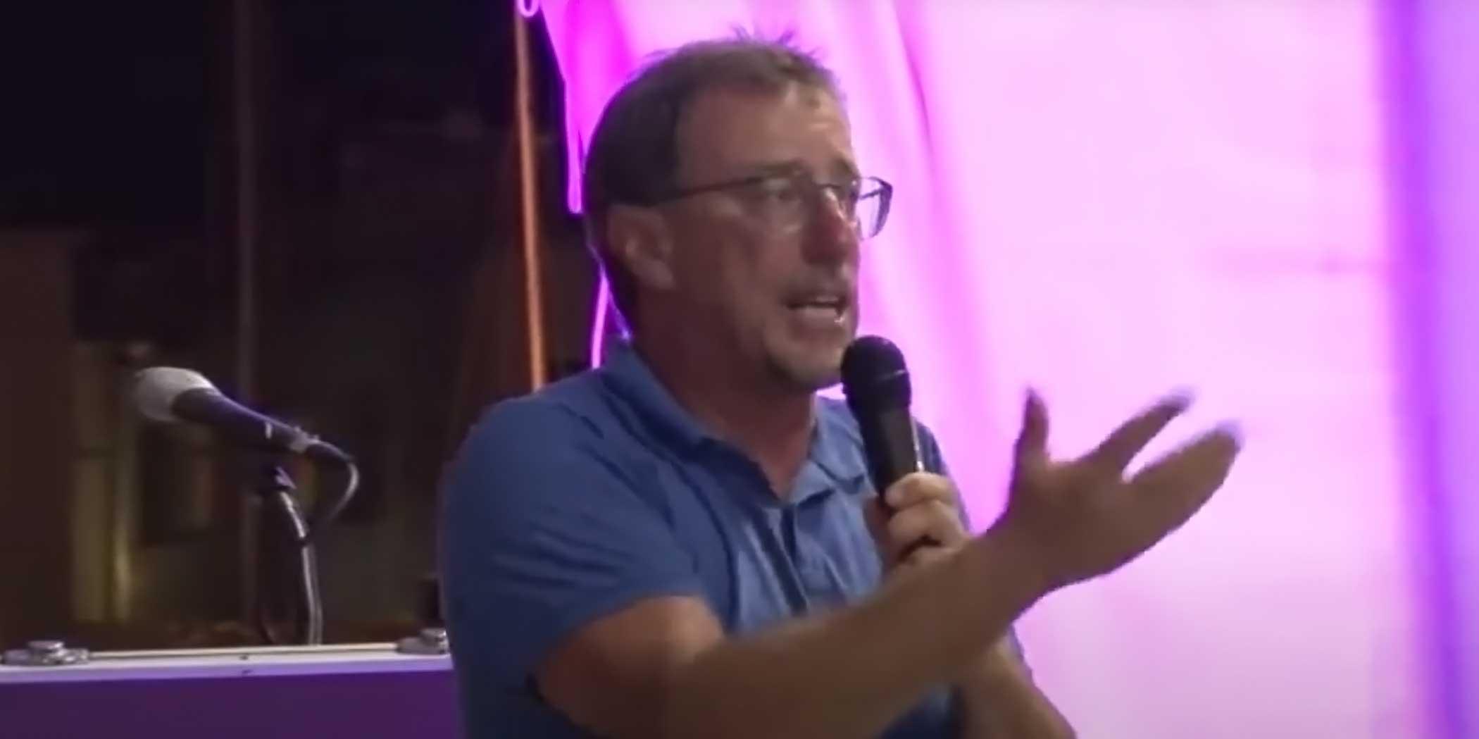 Paolo Polidori infuriato